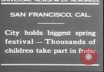 Image of girls dancing around May poles San Francisco California USA, 1930, second 3 stock footage video 65675058941