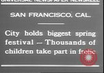 Image of girls dancing around May poles San Francisco California USA, 1930, second 4 stock footage video 65675058941