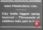 Image of girls dancing around May poles San Francisco California USA, 1930, second 6 stock footage video 65675058941