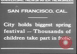Image of girls dancing around May poles San Francisco California USA, 1930, second 7 stock footage video 65675058941