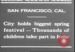 Image of girls dancing around May poles San Francisco California USA, 1930, second 8 stock footage video 65675058941