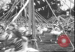 Image of girls dancing around May poles San Francisco California USA, 1930, second 10 stock footage video 65675058941