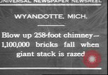 Image of chimney falls Wyandotte Michigan USA, 1930, second 1 stock footage video 65675058942