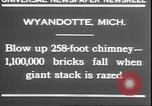 Image of chimney falls Wyandotte Michigan USA, 1930, second 2 stock footage video 65675058942