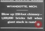 Image of chimney falls Wyandotte Michigan USA, 1930, second 3 stock footage video 65675058942