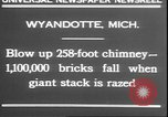 Image of chimney falls Wyandotte Michigan USA, 1930, second 4 stock footage video 65675058942