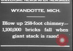 Image of chimney falls Wyandotte Michigan USA, 1930, second 5 stock footage video 65675058942