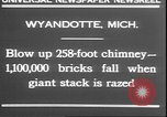 Image of chimney falls Wyandotte Michigan USA, 1930, second 6 stock footage video 65675058942
