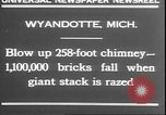 Image of chimney falls Wyandotte Michigan USA, 1930, second 8 stock footage video 65675058942