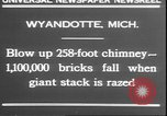 Image of chimney falls Wyandotte Michigan USA, 1930, second 9 stock footage video 65675058942