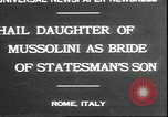 Image of Mussolini Rome Italy, 1930, second 1 stock footage video 65675058943
