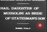 Image of Mussolini Rome Italy, 1930, second 2 stock footage video 65675058943