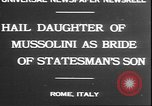 Image of Mussolini Rome Italy, 1930, second 3 stock footage video 65675058943