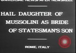 Image of Mussolini Rome Italy, 1930, second 7 stock footage video 65675058943