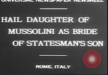 Image of Mussolini Rome Italy, 1930, second 8 stock footage video 65675058943