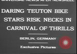 Image of stunts on bicycles Berlin Germany, 1930, second 4 stock footage video 65675058945