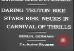 Image of stunts on bicycles Berlin Germany, 1930, second 5 stock footage video 65675058945