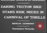 Image of stunts on bicycles Berlin Germany, 1930, second 6 stock footage video 65675058945