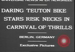 Image of stunts on bicycles Berlin Germany, 1930, second 8 stock footage video 65675058945