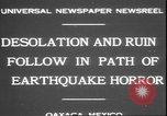 Image of earthquake Oaxaca Mexico, 1931, second 2 stock footage video 65675058947