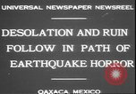 Image of earthquake Oaxaca Mexico, 1931, second 3 stock footage video 65675058947