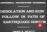 Image of earthquake Oaxaca Mexico, 1931, second 4 stock footage video 65675058947