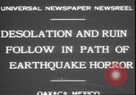 Image of earthquake Oaxaca Mexico, 1931, second 5 stock footage video 65675058947