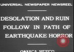 Image of earthquake Oaxaca Mexico, 1931, second 6 stock footage video 65675058947