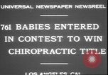 Image of chiropractors examining babies Los Angeles California USA, 1931, second 7 stock footage video 65675058948