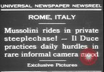 Image of Benito Mussolini Rome Italy, 1931, second 2 stock footage video 65675058950