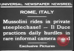 Image of Benito Mussolini Rome Italy, 1931, second 4 stock footage video 65675058950