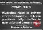 Image of Benito Mussolini Rome Italy, 1931, second 7 stock footage video 65675058950