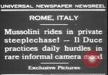 Image of Benito Mussolini Rome Italy, 1931, second 8 stock footage video 65675058950