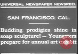 Image of soap sculptures San Francisco California USA, 1931, second 5 stock footage video 65675058951