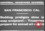 Image of soap sculptures San Francisco California USA, 1931, second 6 stock footage video 65675058951
