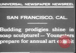 Image of soap sculptures San Francisco California USA, 1931, second 8 stock footage video 65675058951