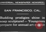 Image of soap sculptures San Francisco California USA, 1931, second 9 stock footage video 65675058951