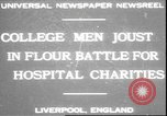 Image of students clash Liverpool England, 1931, second 1 stock footage video 65675058955