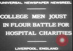 Image of students clash Liverpool England, 1931, second 4 stock footage video 65675058955
