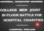 Image of students clash Liverpool England, 1931, second 6 stock footage video 65675058955