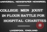 Image of students clash Liverpool England, 1931, second 8 stock footage video 65675058955