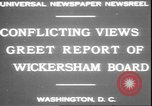 Image of George W Wickersham Washington DC USA, 1931, second 3 stock footage video 65675058956