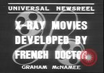 Image of X ray machine Paris France, 1935, second 10 stock footage video 65675058974