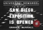 Image of international exposition San Diego California USA, 1935, second 1 stock footage video 65675058975