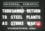 Image of steel mill workers Youngstown Ohio USA, 1937, second 1 stock footage video 65675058985
