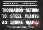 Image of steel mill workers Youngstown Ohio USA, 1937, second 2 stock footage video 65675058985