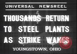 Image of steel mill workers Youngstown Ohio USA, 1937, second 3 stock footage video 65675058985