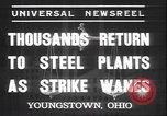 Image of steel mill workers Youngstown Ohio USA, 1937, second 4 stock footage video 65675058985