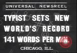 Image of Albert Tangora typing 141 words per minute Chicago Illinois USA, 1937, second 1 stock footage video 65675058989
