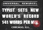 Image of Albert Tangora typing 141 words per minute Chicago Illinois USA, 1937, second 2 stock footage video 65675058989